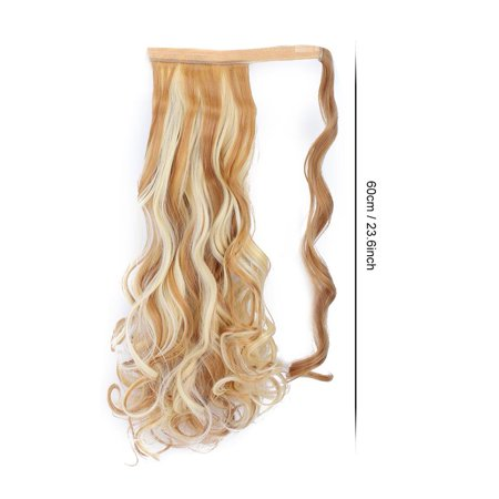 Herwey Long Curly Hair Extension Wig Piece Traceless Invisible Synthetic Ponytail Hair Piece - image 5 of 8