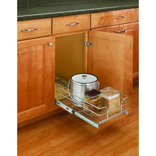 Rev-A-Shelf  5WB1-1218  Pull Out Organizers  5WB  Base Cabinet Organizers  Baskets  ;Chrome