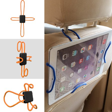 Light Air Grid Seat (Universal Tablet Holder, Slim Cross-Shaped Flexible Do It Yourself Car Mount Air Vent Headrest Stroller Seat Mount Holder Cradle with Expandable Stand and Grid - Orange, Fit Upto 10.5 inch)