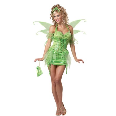 Womens Tinkerbell Fairy Sexy Adult Halloween Costume (Fairy Costume Women)