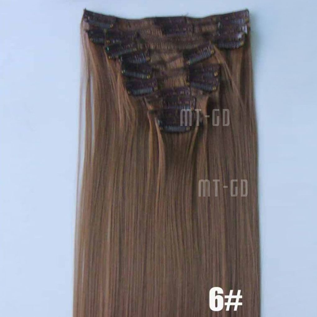 "12X 22"" Women Clip-In Hair Extension Hairpiece Wig Cosmetics"