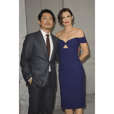 Steven Yeun Lauren Cohan At Arrivals For Amc Presents Live Special Edition Of The Walking DeadS Talking Dead Hollywood Forever Cemetery Los Angeles Ca October 23 2016 Photo By Elizabeth GoodenoughEver