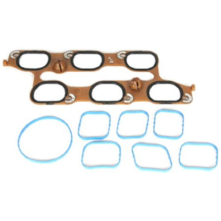 12646459 GM Original Equipment Intake Manifold Gasket Kit with Throttle  Body Gasket and Upper and Lower Gaskets, Helps prevent dirt and debris  from  ,