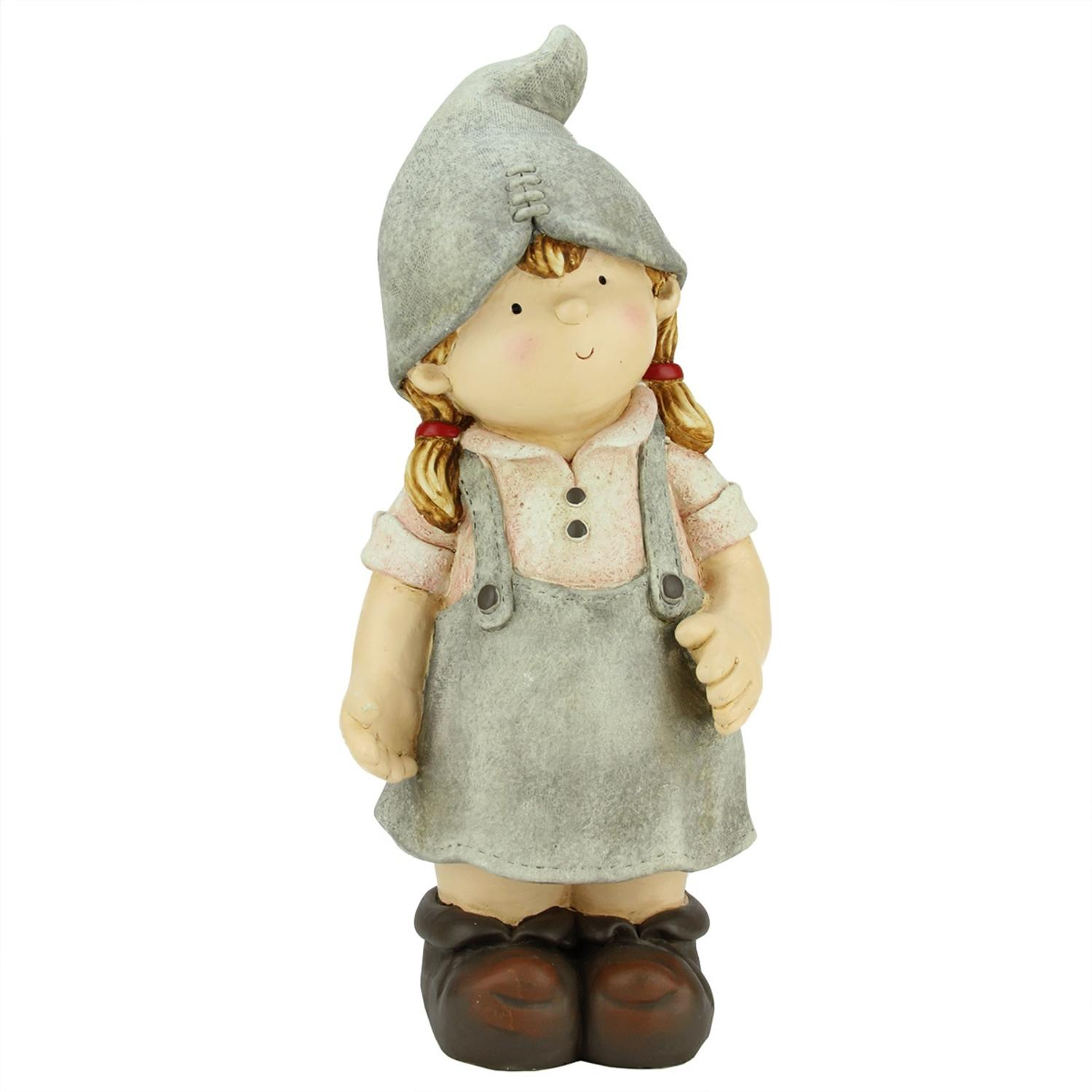 """17.75"""" Young Girl Gnome Daydreaming Spring Outdoor Patio Garden Statue by Northlight"""