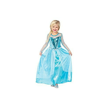 Little Girls' Disney Frozen Elsa Inspired Ice Queen Costume Dress up - Halloween Ice Luge
