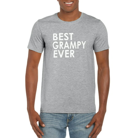 Best Grampy Ever T-Shirt- Gift Idea for Grandpa - Pregnancy Announcement - Funny Family Tee for New Grandfather