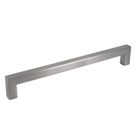 Celeste Designs Square Bar Pull Modern Cabinet Handle Brushed Nickel Stainless Steel 12mm 8