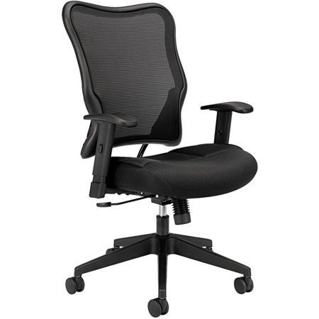 basyx vl702 high back swivel tilt work chair black mesh
