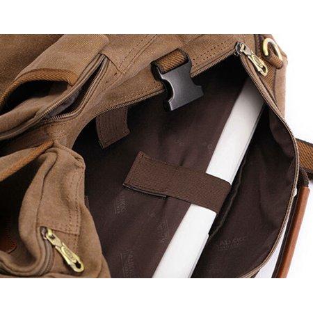 Meigar Men Retro Canvas Shoulder Bag Travel Tactical Backpack - image 4 de 9