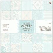 """Papermania Single-Sided Paper Pack 12""""X12"""" 32/Pkg-Eau De Nil, 32 Designs/1 Each"""