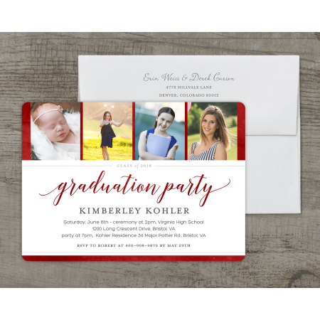 looking back deluxe graduation invitation walmart com