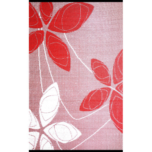 b.b. begonia Alaska Red and White Reversible Indoor/Outdoor Area Rug