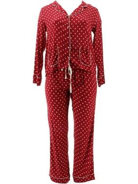 Splendid Woven Rayon Notch Collar Piped Pajama Set NEW A347858