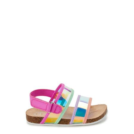 Wonder Nation Multi Metallic Footbed Sandals (Infant Girls)