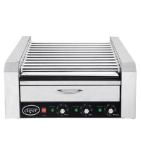 Clevr Commercial Roller Hot Dog Roller Cooker, 30 Hot Dog Grill and Warmer