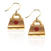 Whimsical Gifts 650G-ER Medical Bag Charm Earrings, Gold