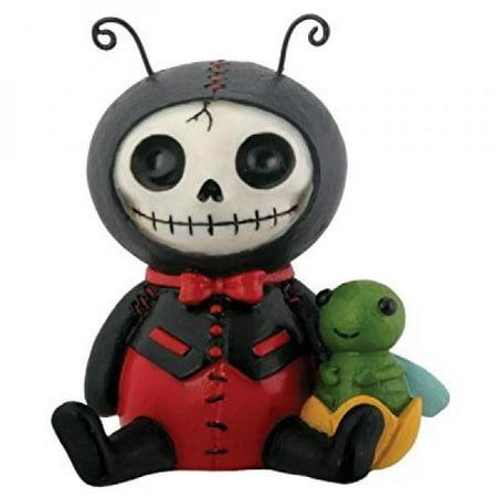 Dots Ladybug Furry Bones Statue