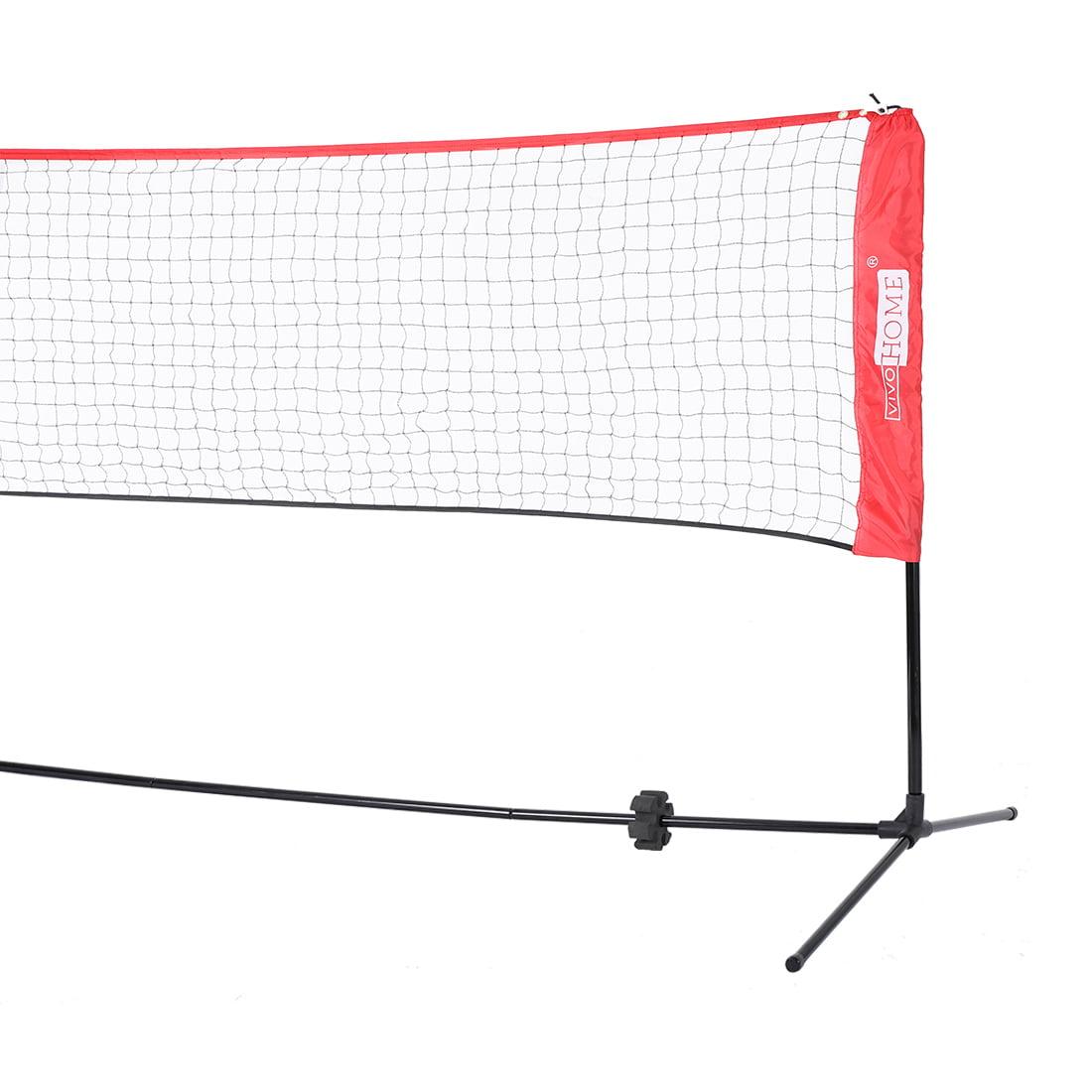 Portable Height Adjustable Outdoor Badminton Volleyball Soccer Tennis Pickleball Net 17ft Walmart Com Walmart Com