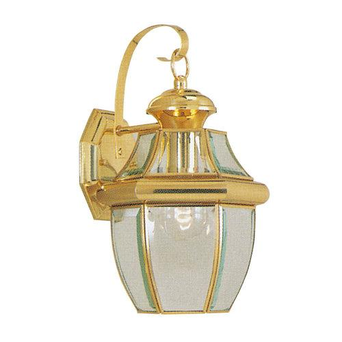 Livex Lighting  2151  Wall Sconces  Monterey  Outdoor Lighting  Outdoor Wall Sconces  ;Polished Brass