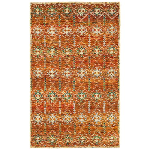 LR Resources Rajani Rust Geometric Rug