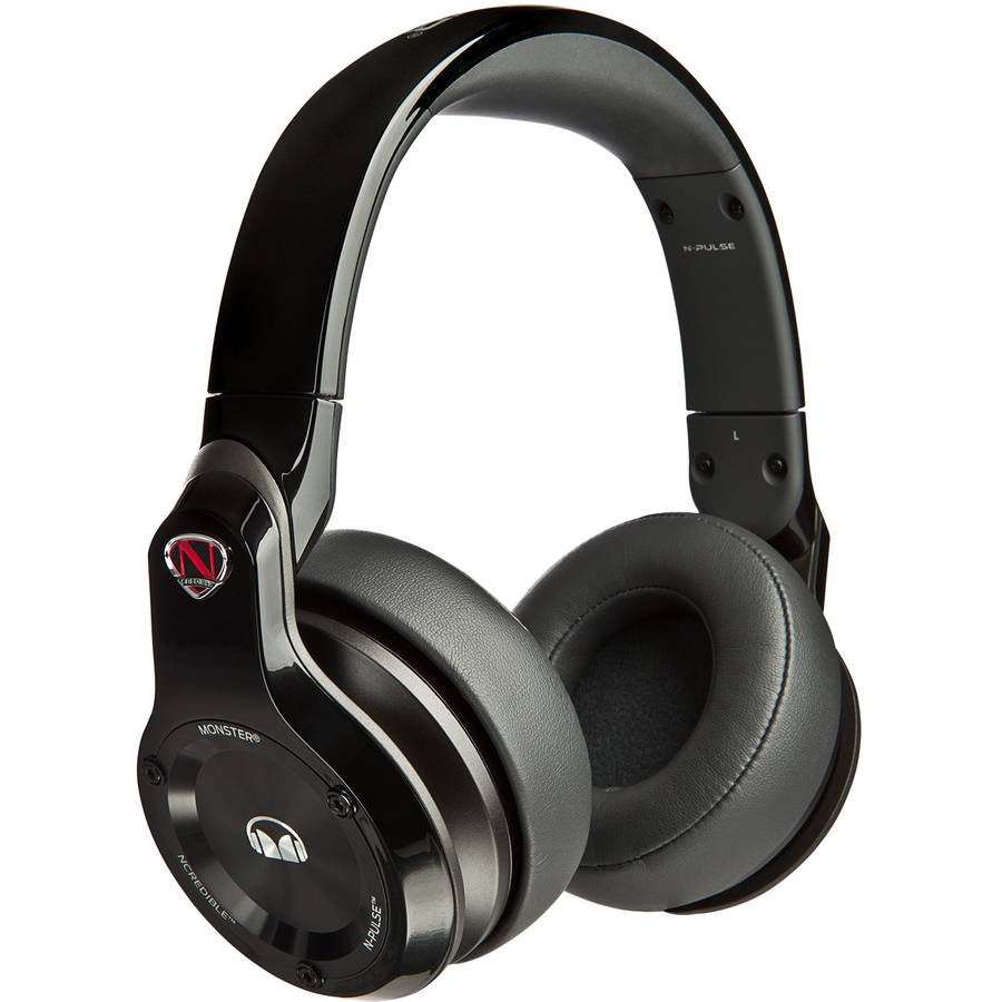 NCredible N-Pulse Over-Ear DJ Headphones by Monster, White