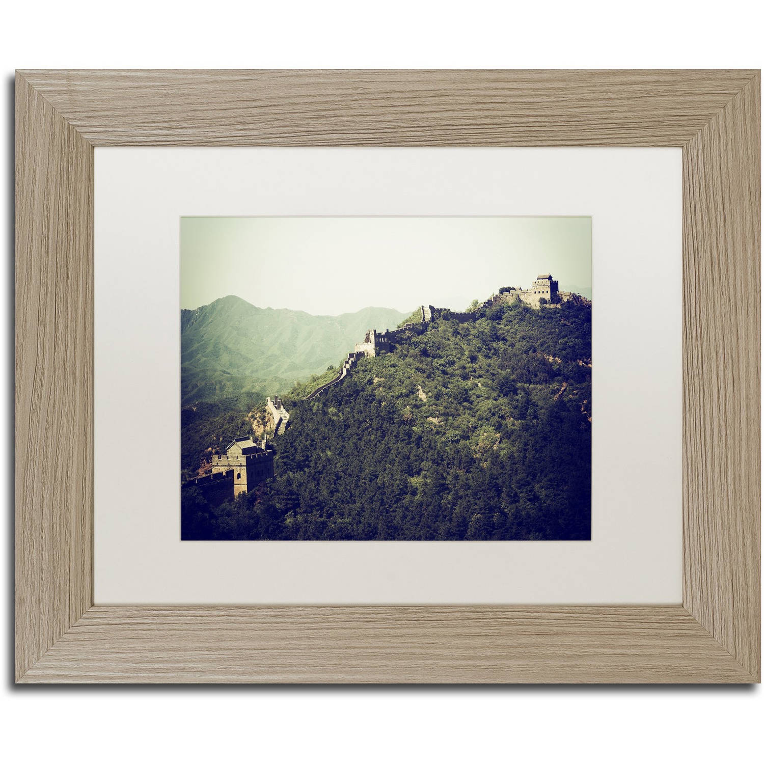 "Trademark Fine Art ""Great Wall"" Canvas Art by Philippe Hugonnard, White Matte, Birch Frame"