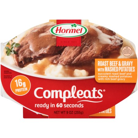 Hormel Roast Beef   Gravy With Mashed Potatoes Compleats 9 Oz  Sleeve