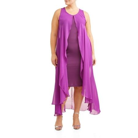 Fly Fancy Dress (Women's Plus Size Sleeveless Chiffon Flyaway)