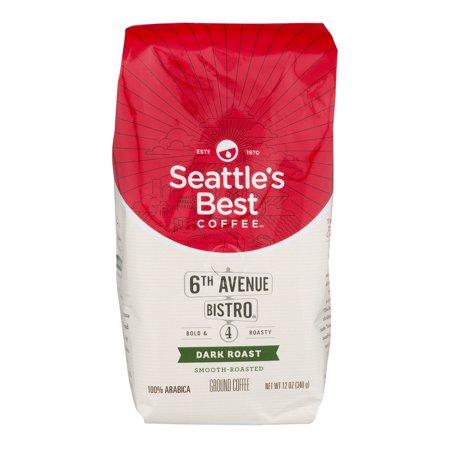 Seattle's Best Dark Roast Coffee Ground 6th Avenue Bistro, 12.0 OZ