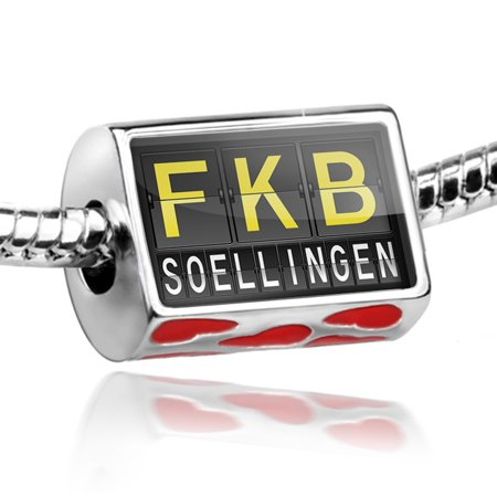 Bead Fkb Airport Code For Soellingen Charm Fits All European Bracelets