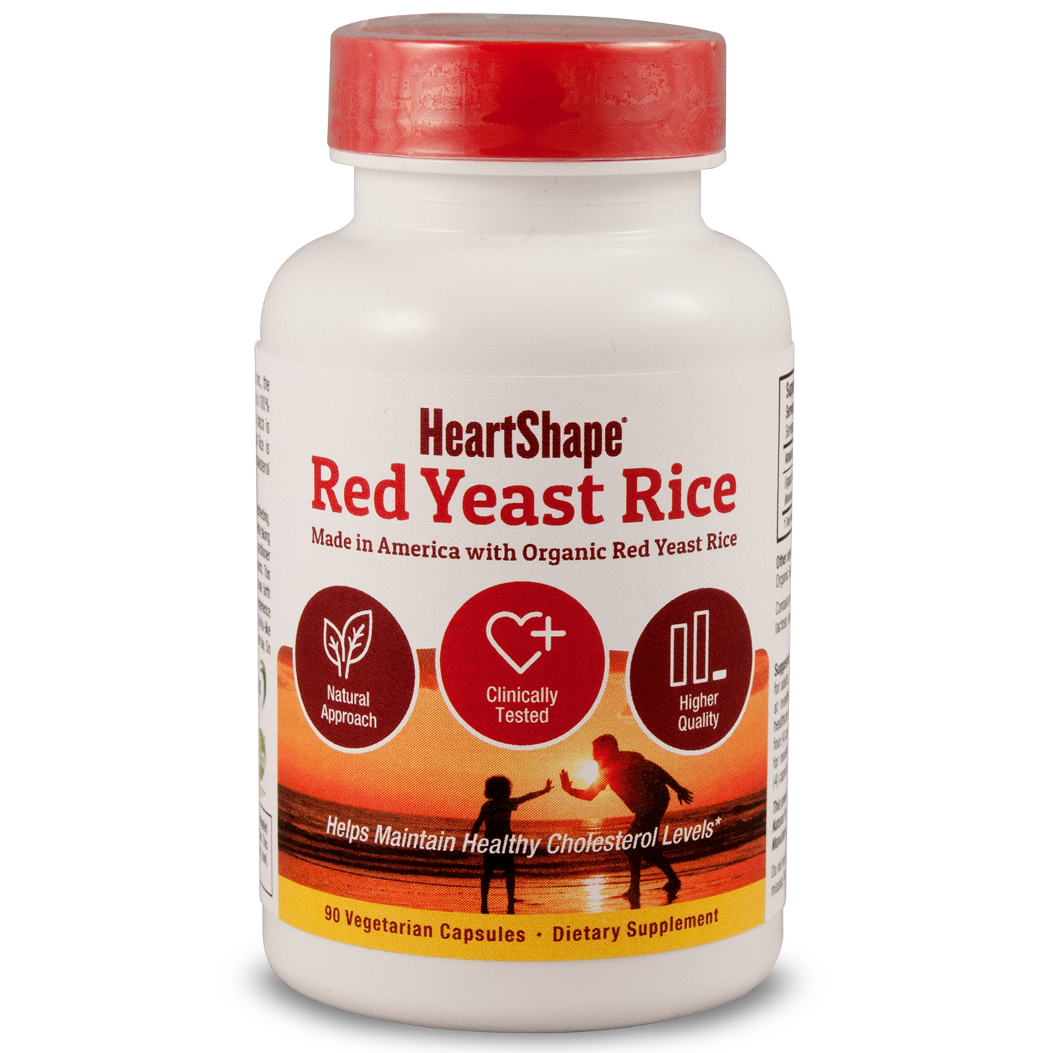 Sylvan HeartShape Red Yeast Rice 1200mg Capsules, 90 Ct