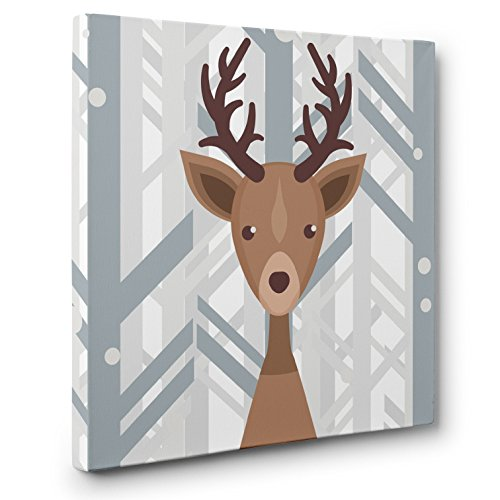 Woodland Creatures Deer Nursery Decor CANVAS Wall Art