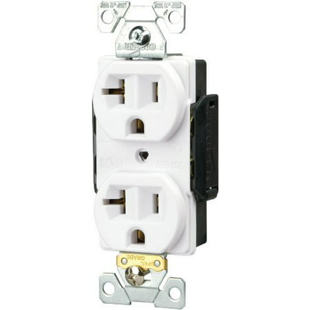 Cooper 5362W White Industrial Single Outlet Receptacle 20A (Industrial Receptacle Outlet)