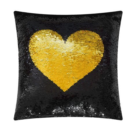 Mainstays Love Reversible Sequin Decorative Throw Pillow 17
