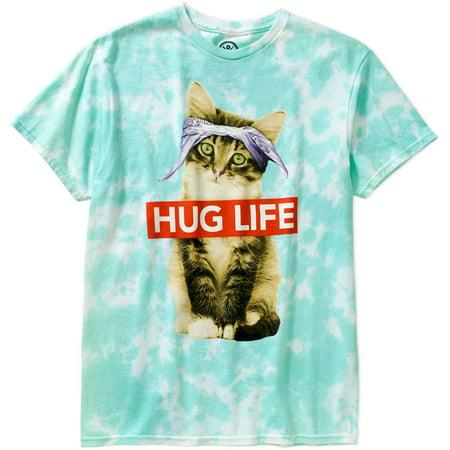 046fd221 Humor - Hug Life Cat Big Men's Graphic Tee - Walmart.com
