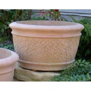 Round Cast Stone Southern Cloud Planter