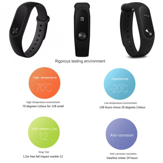 AGPtek Smart Wristband With OLED Display Bluetooth4 0 Heart Rate Monitor  Fitness Tracker Pedometer Waterproof