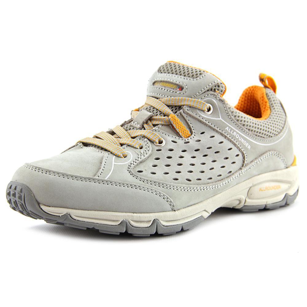 Allrounder By Mephisto Bajana Women Round Toe Leather Gray Sneakers by Allrounder By Mephisto
