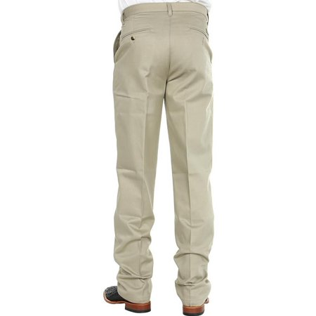 6319e98eb4 Wrangler Mens Riata Flat Front Relaxed Fit Pants - Khaki - Walmart.com