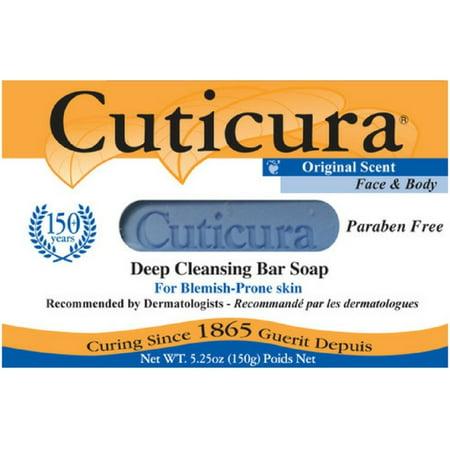 4 Pack - Cuticura Medicated Antibacterial Soap Original Formula 5.25 oz