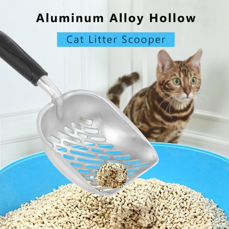 Aluminum Alloy Hollow Cat Litter Scooper Litter Shovel Sifter with Long Handle Pet Poop Scooper Shovel Pet Cleaning Supplies Tools - image 1 of 1