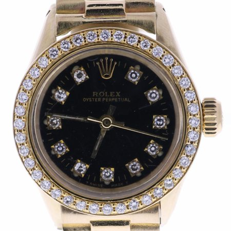 Certified Rolex Datejust Auto Gold Mens Watch 6619