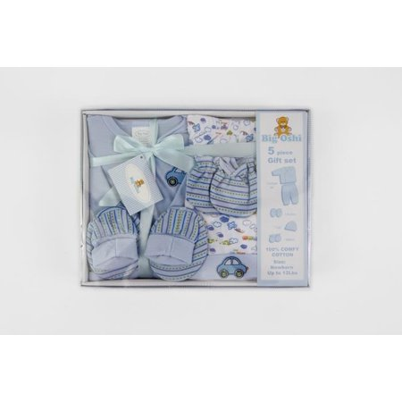 Big Oshi 5 Piece Layette Gift Set-Color:Blue