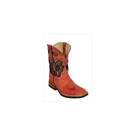 Ferrini 6109322100B Ladies Cowgirl Cool Cowhide Studs Red Square Toe Boots, 10B