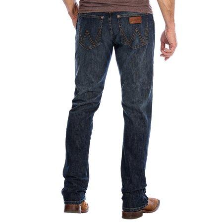 Wrangler Apparel Mens Retro Premium Slim Straight Barrick Wash Jeans 30x34 Denim