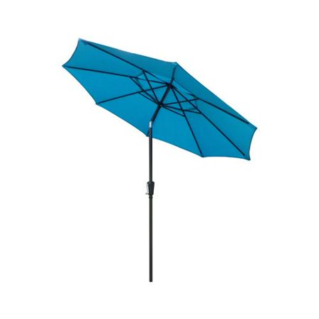 March Products ECO908D709-P33 Patio Market Umbrella, Crank Open, Steel Frame, Teal Polyester, (Team Umbrella)