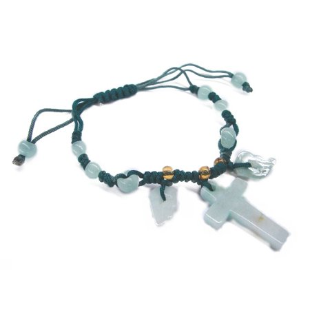 - Jade Cross Bracelet-green