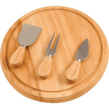 Kitchenworthy Rubberwood Board And Serving Set (pack Of 10)