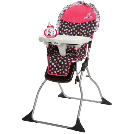 Disney Simple Fold Plus High Chair, Minnie Mash Up with BONUS NUK Learner Cup, (Safety 1st On The Go Fold Up Booster)