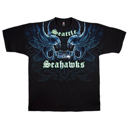 NFL: Seahawks Face Off Apparel T-Shirt - Black